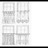 Gardinia függönytartó rúd,vitrázsrúd,barna 40-65 cm-ig