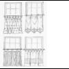 Gardinia függönytartó rúd,vitrázsrúd,fehér 100-160 cm-ig, 2db