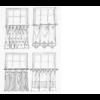 Gardinia függönytartó rúd,vitrázsrúd,barna 100-160 cm-ig