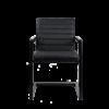 Feel Furniture bőr konferencia szék, tárgyalószék, 2 db, fekete