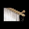 Gardinia Lugano fa függönykarnis, fenyő, egy soros, 120 cm