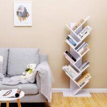 Vasagle 8 szintes könyvespolc, fehér