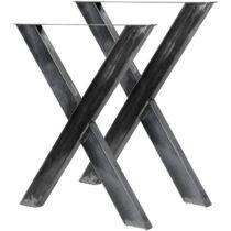 Wiltec X alakú acél asztalláb szett, 2 db, 60 x 72 cm