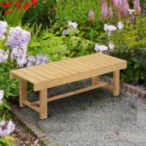 Outsunny® kerti pad, 2 személyes, tömör fa (84B-362)