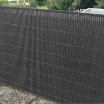 Belátásgátló, átlátásgátló és szélfogó műnád kerítés, 2 m x 5 m, antracit, II.o.