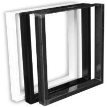Bestloft acél asztalláb, 2 db, fekete
