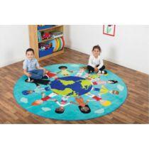 A világ gyermekei kör alakú szőnyeg, 200 cm