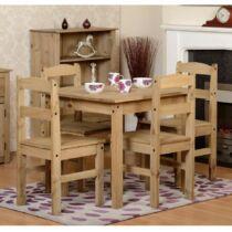 Panama étkezőasztal szett, asztal 4 székkel, fenyőfa (53268TB)