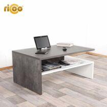 Ricoo dohányzóasztal , 90 cm, fehér/beton szürke