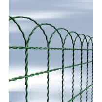 Virágágyás szegély kerítés PVC bevonattal, 65×250 cm