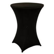 Alora bisztró asztal huzat szett, 2 db, fekete, 80 cm
