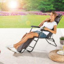Solax-Sunshine összecsukható napozóágy állítható háttámlával, párnával