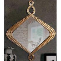 Antik dekorációs tükör, 60×60 cm