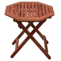 Garden Pleasure összecsukható, 8 szögletű kerti kisasztal, eukaliptusz fa, 50x50x50 cm