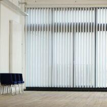 Gardinia fényáteresztő lamellás szalagfüggöny szett 150×260 cm, fehér