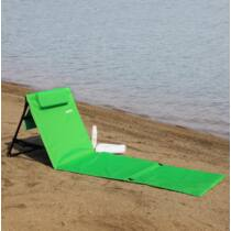 Deuba párnázott strandmatrac, összecsukható, zöld, 158 x 56 x 45,5 cm