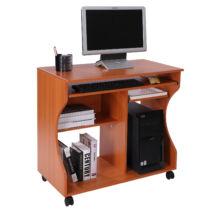 HomCom számítógépasztal, 80x48x76 cm, cseresznye (920-022)
