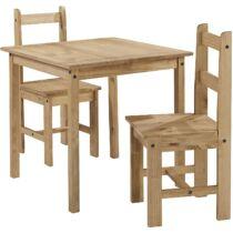Mercers Corona Rio étkezőasztal szett, 2 székkel