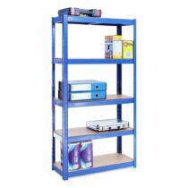 G-Rack tároló polc 150x75x30 cm, 5 polcos, 875 kg, kék