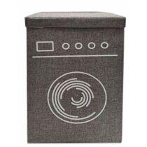 Berela Home összecsukható szennyestartó kosár, szürke, 60x40x30 cm