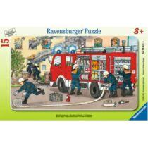 Ravensburger 15 db-os keretes puzzle - Tűzoltóautó (06321)
