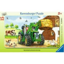Ravensburger 15 db-os keretes puzzle - Traktor a farmon (06044)