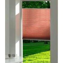 Harmónika roló, pliszé függöny, 46,5×205 cm, tégla