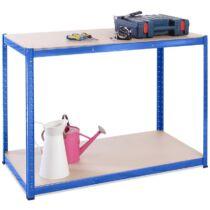 G-Rack munkaasztal 120x60x90 cm, 2 polcos, 600 kg, kék (0029)