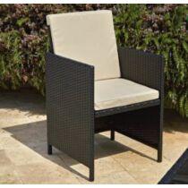 Polyrattan kerti szék szett párnával, 2 db