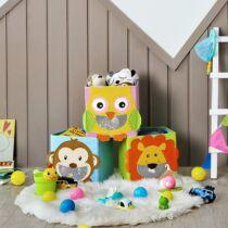 Songmics összecsukható játéktároló szett, állatos figurákkal