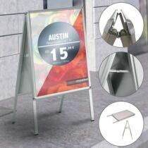 AUSTIN A1 kétoldalas megállító tábla, alumínium kerettel