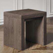 Brazil pad, ülőke, 34x34x45 cm, wenge