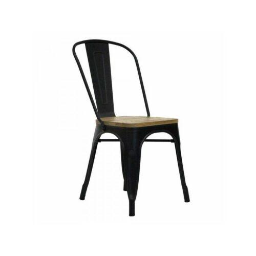Red Cartel acél szék, fa üléssel