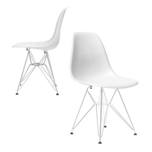 Eiffel design szék, fehér, 2 db