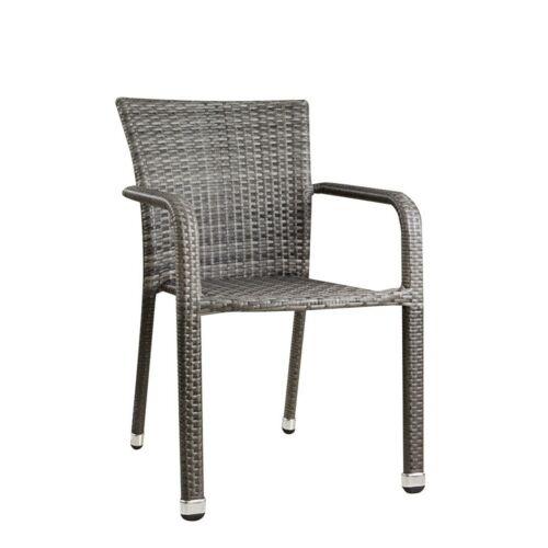 Basato műrattan kerti szék, melírozott szürke