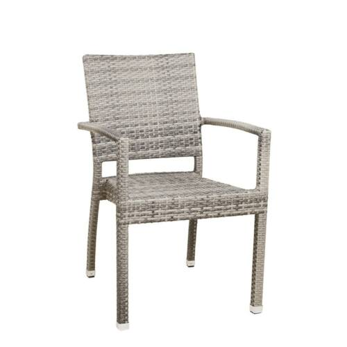 Mezino műrattan kerti szék, melírozott szürke