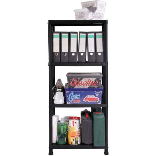 Ondis24 műanyag tároló polc, 125 kg, 60 x 30 x 138 cm