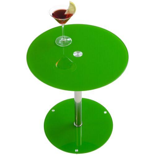 Albatros Sunset kerek üvegasztal, koktélasztal, zöld, 50 cm