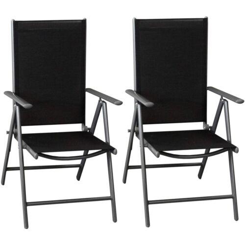 """Wohaga """"Miami"""" kerti szék szett, 2 db, szürke/fekete, összecsukható"""