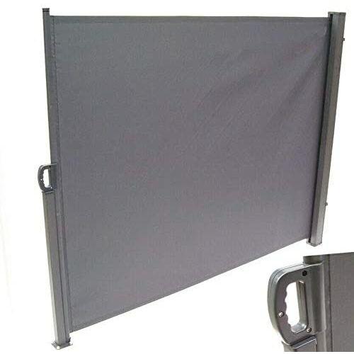 D&L Kihúzható szélfogó, térelválasztó 200 x 350 cm, antracit