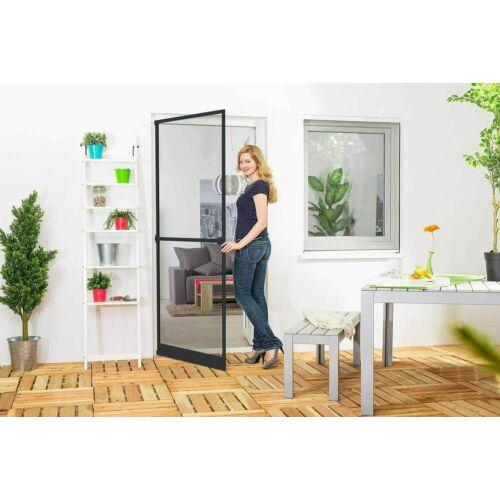 Empasa szúnyogháló ajtó, antracit, aluminium kerettel 100×210 cm