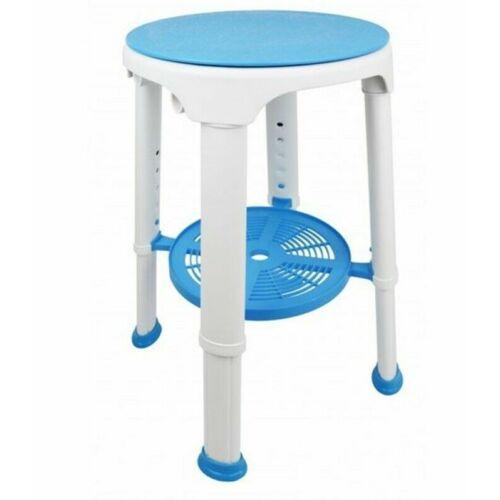 Sono fürdőszobai szék állítható magassággal, forgatható ülőfelülettel és tároló tálcával
