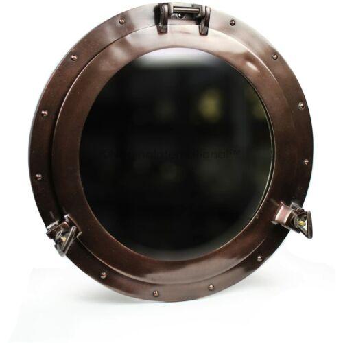 Hajóablak tükör, ⌀ 38 cm, vörös réz