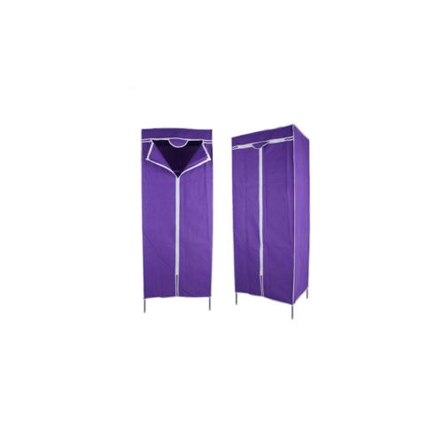 Mobil textil ruhásszekrény, 144 x 60 x 45 cm, lila