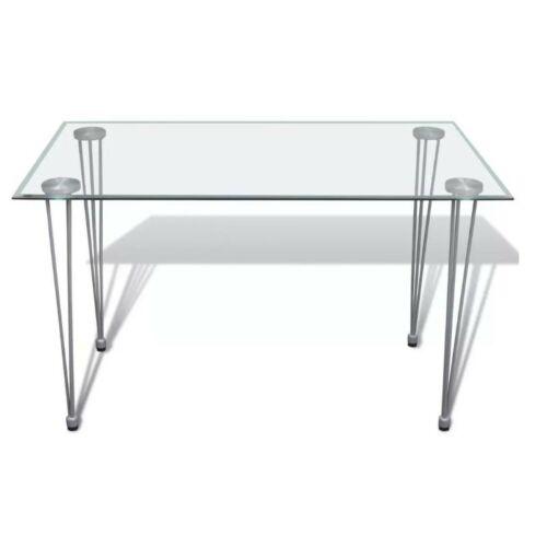 Asztalláb szett, acél, szürke