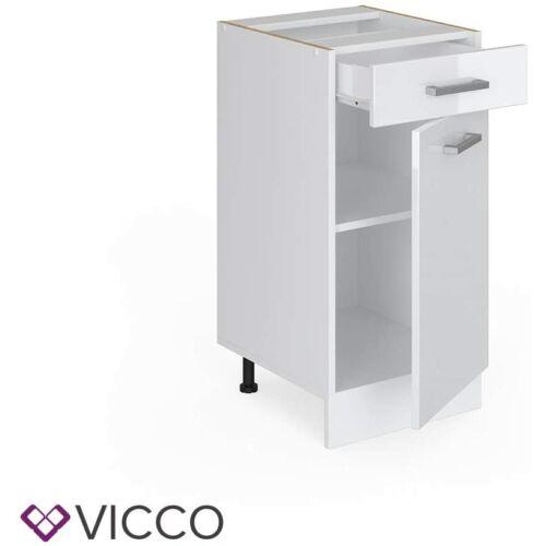 Vicco R-Line konyhai alsó szekrény, fehér, 40 cm