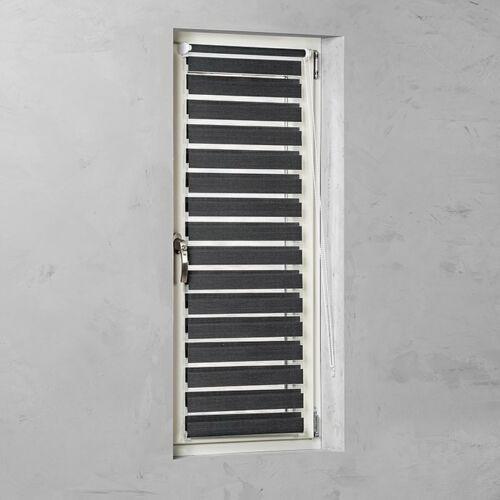 Basic 45×150 cm mini sávos roló, dupla roló, zebra roló, fúrás nélkül, fekete