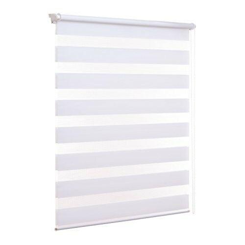 Ventanara 90×210 cm sávos roló, dupla roló, zebra roló, fúrás nélkül, fehér