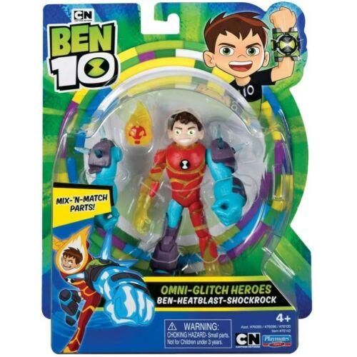 Ben 10 akciófigura: Ben-Heatblast-Shockrock