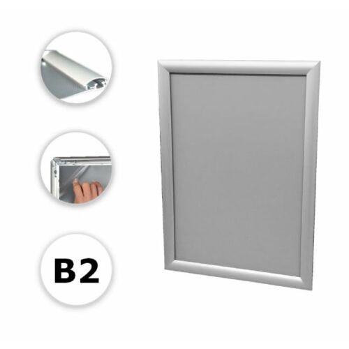Alumínium plakátkeret B2 méretben, szögletes sarokkal